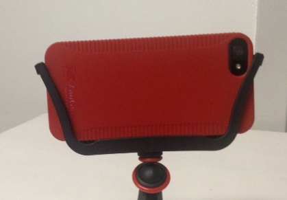 View of Camera Lens on back of case